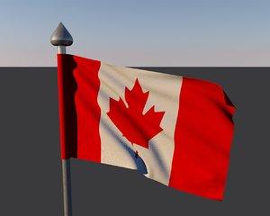 3d model canada flag