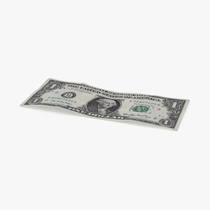 1 dollar bill single 3d max
