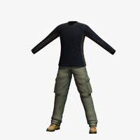 mens clothing 8 3d model