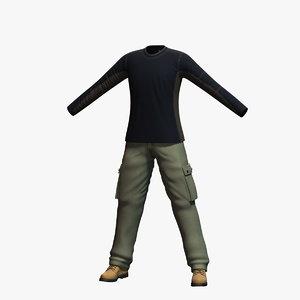 mens clothing 8 3d model