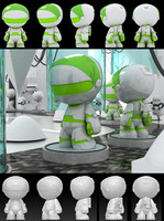 space suit cartoon 3d dxf