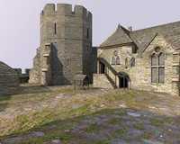 3d c4d old english castle