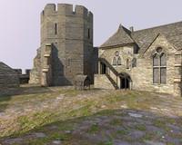 3d c4d old english castle
