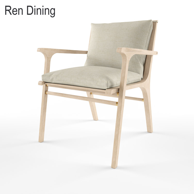 ren dining armchair 3d model