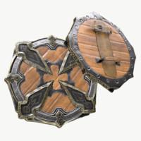3d model elite viking shield