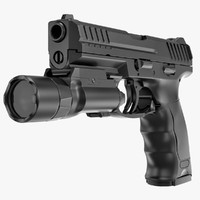 3d handgun heckler koch vp9 model