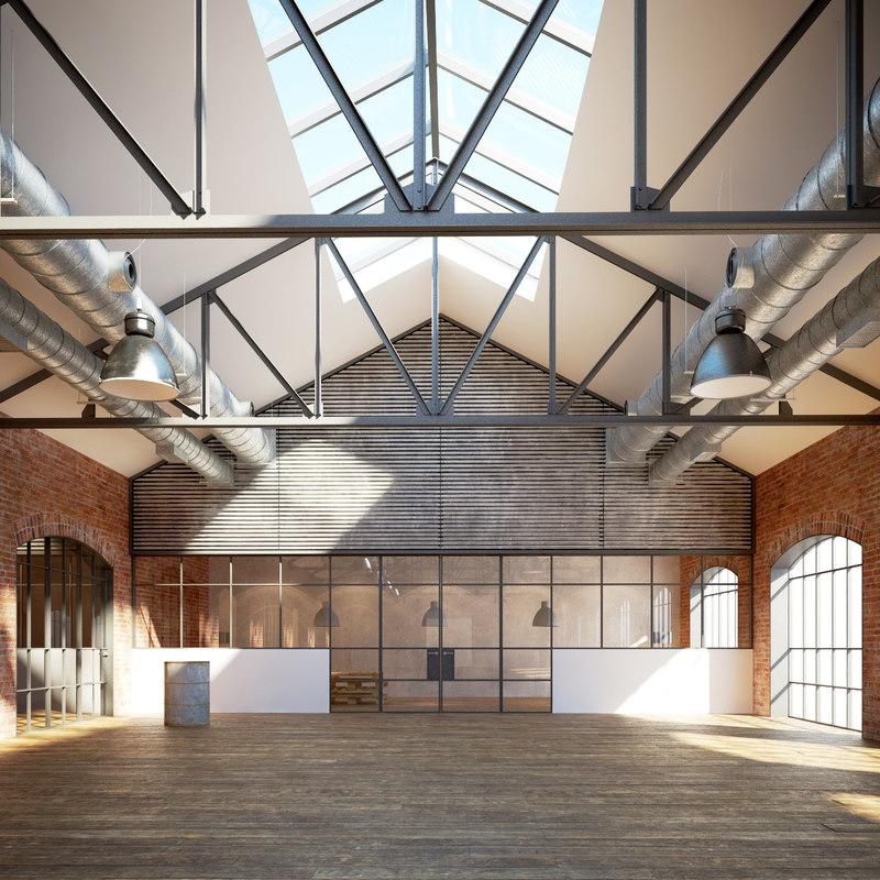 industrial warehouse interior max