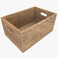 wooden box color 2 3d model
