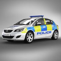 uk police car 3d model