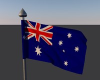 flag australia c4d