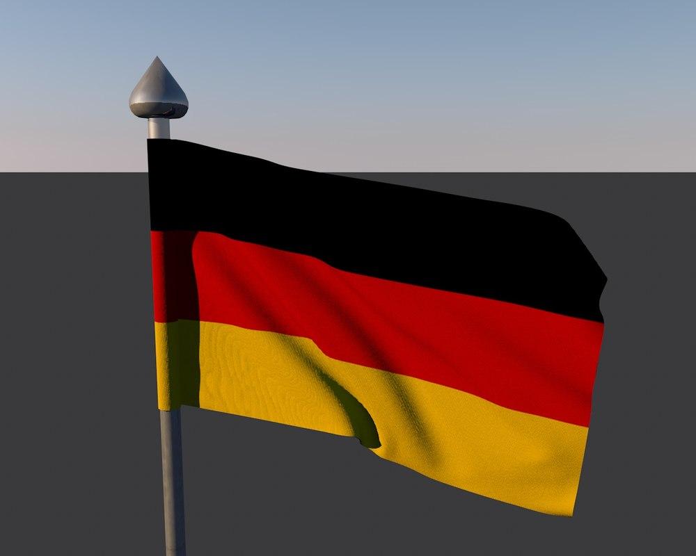 3d flag germany model