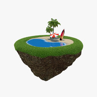 island green peace 3d model