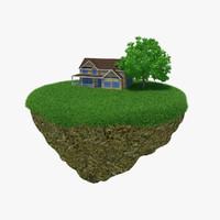 house island 3d max