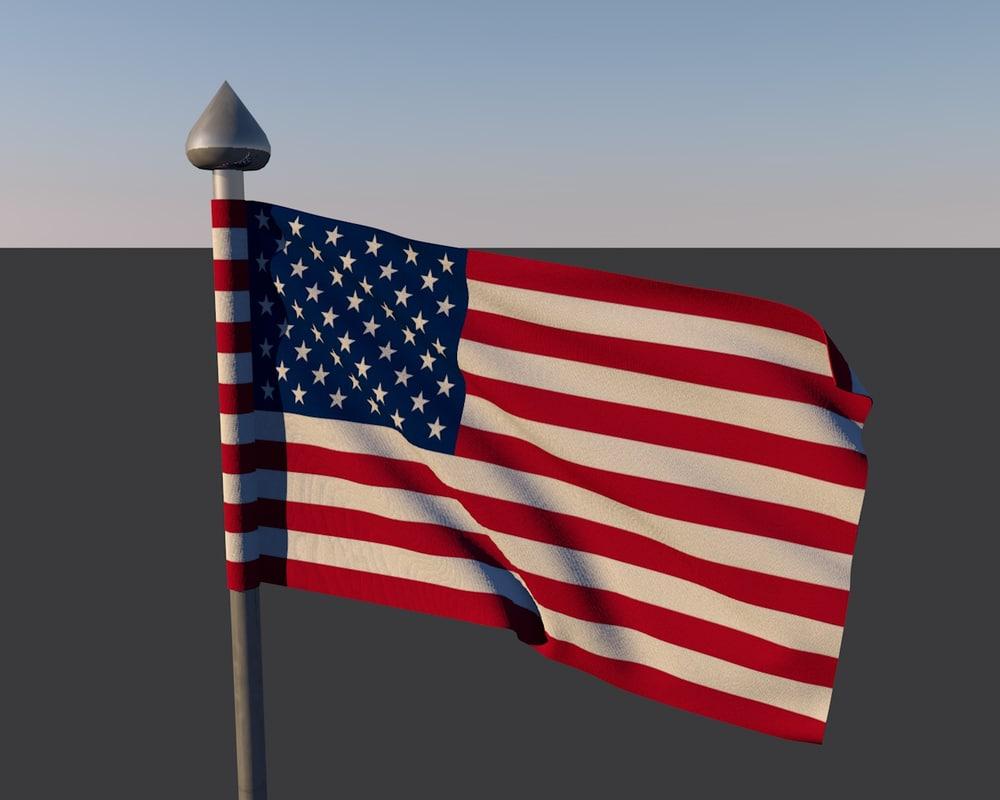 c4d usa flag