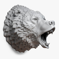 Bear Head (Roaring)