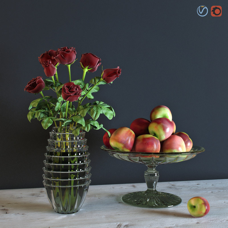 max red roses apples