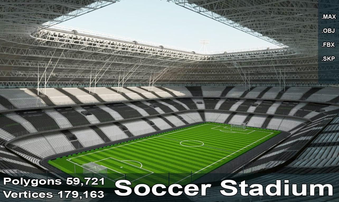 stadium goals field obj