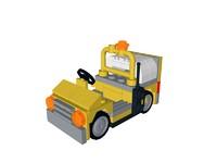 3d lego airport vehicle model
