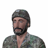 syrian soldier army 3d 3ds