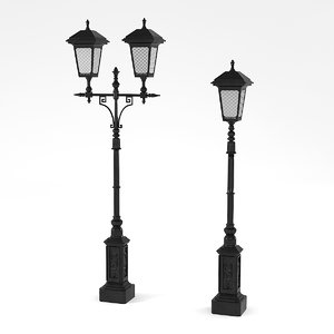 3d model cast iron street lamps