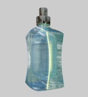 3d fragrance bottle model