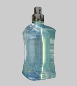 3d fragrance bottle model