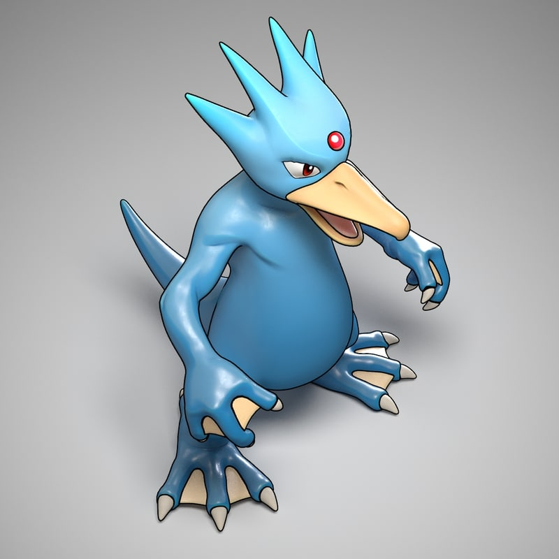 3d model of golduck pokemon