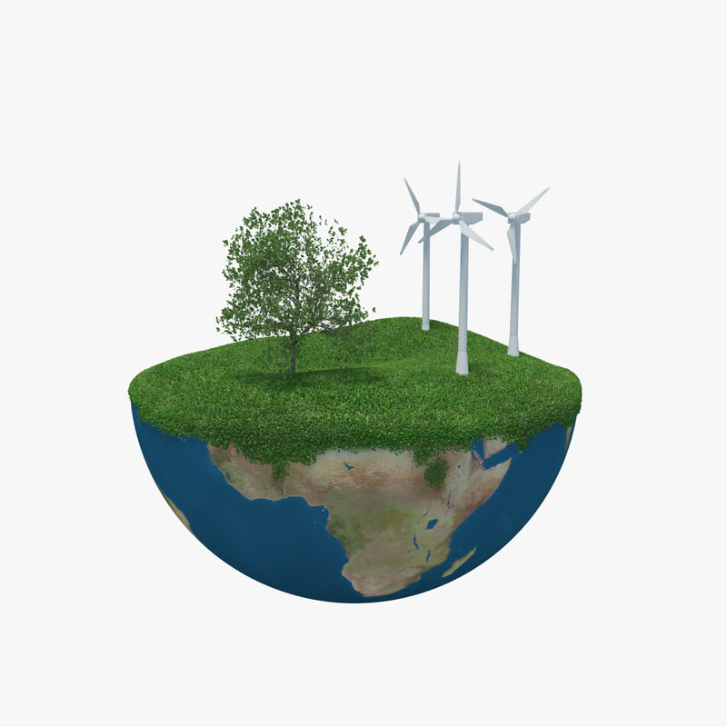 earth green peace 3d model