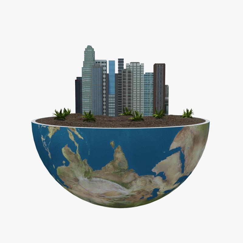 earth green peace 3d max
