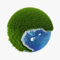 3d planet green model