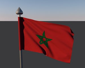 3d model of flag maroco