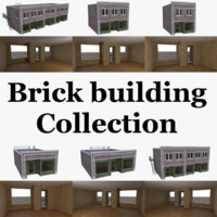 brick building interior 3d model