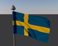 sweden flag 3ds