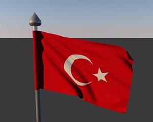 3ds turkey flag