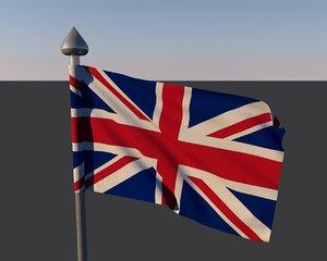 3d flag drapeau