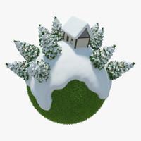 3d max planet winter