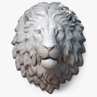 Lion Head Sculpture Calm