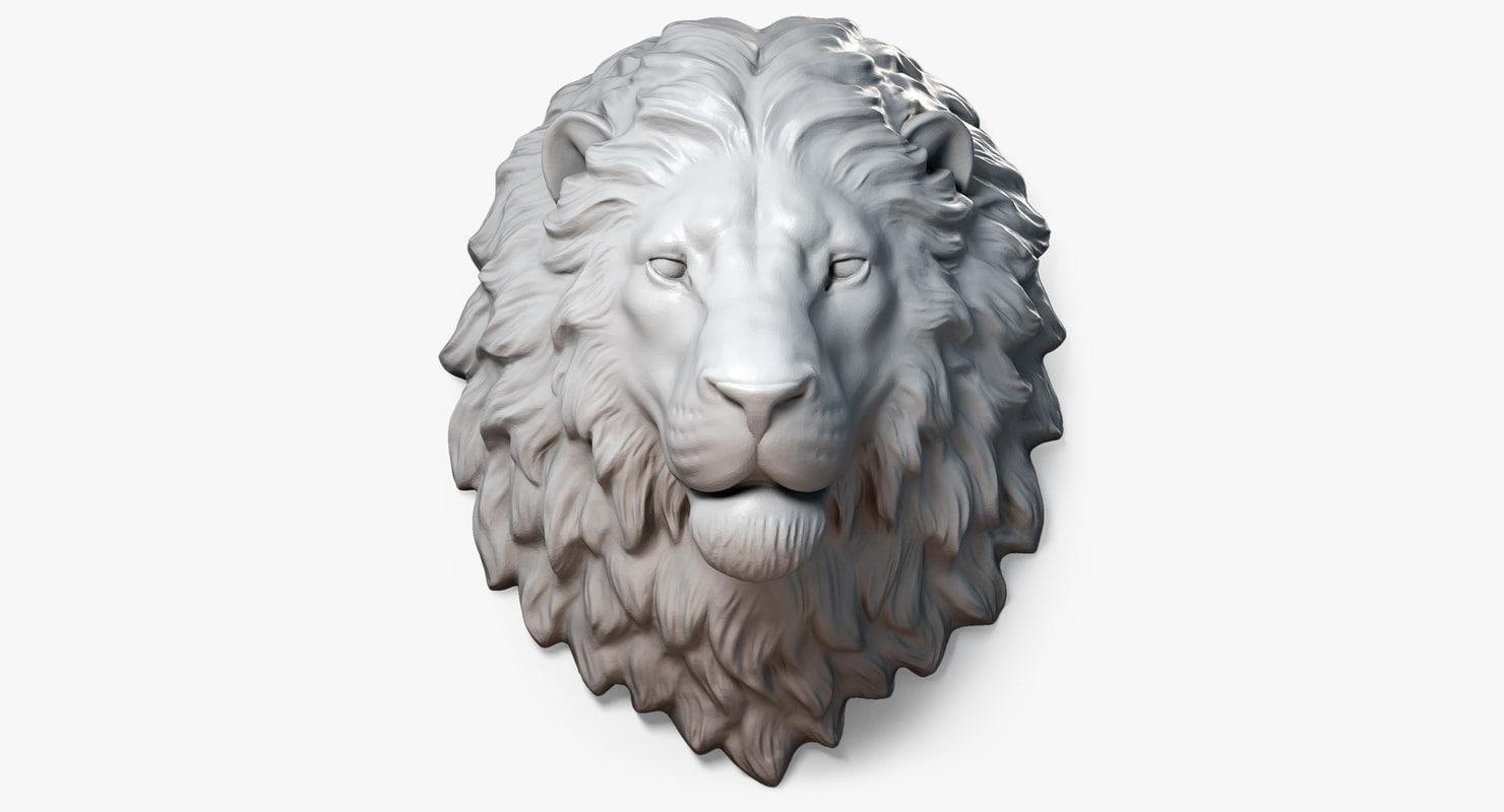 3d model lion head