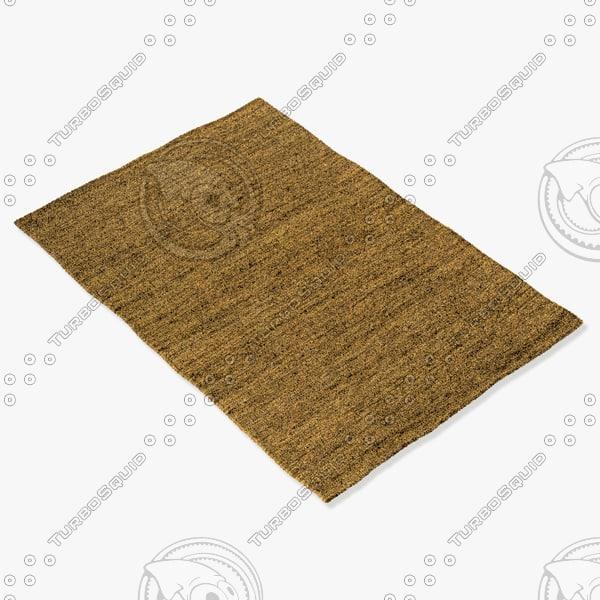 3d model amara rug smart flat