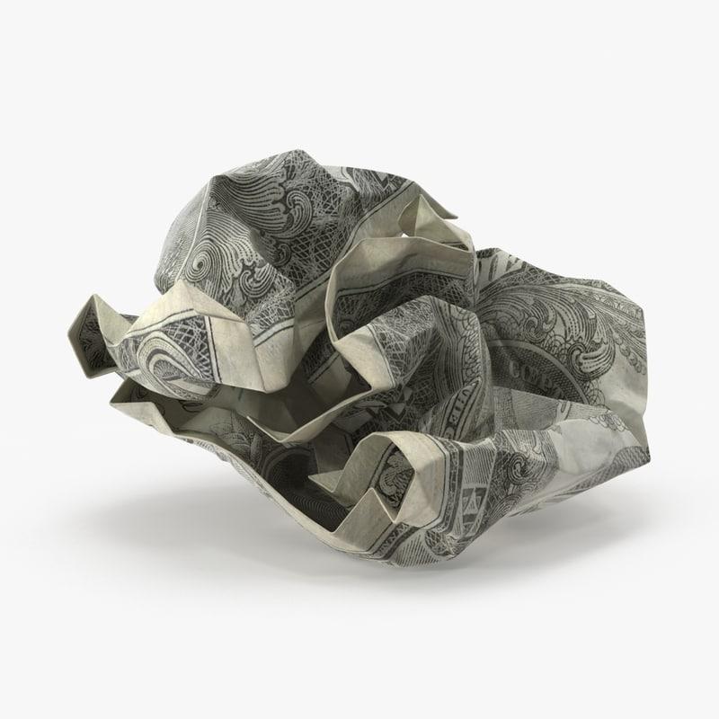 dollar bill crumpled ball max