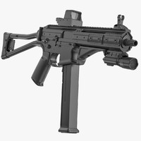 3d gun lwrc smg-45 materials