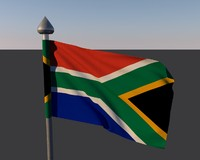 flag south africa 3d 3ds