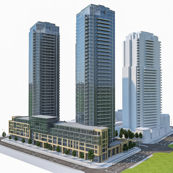 residential building exterior obj