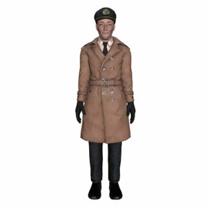 3d model navy captain