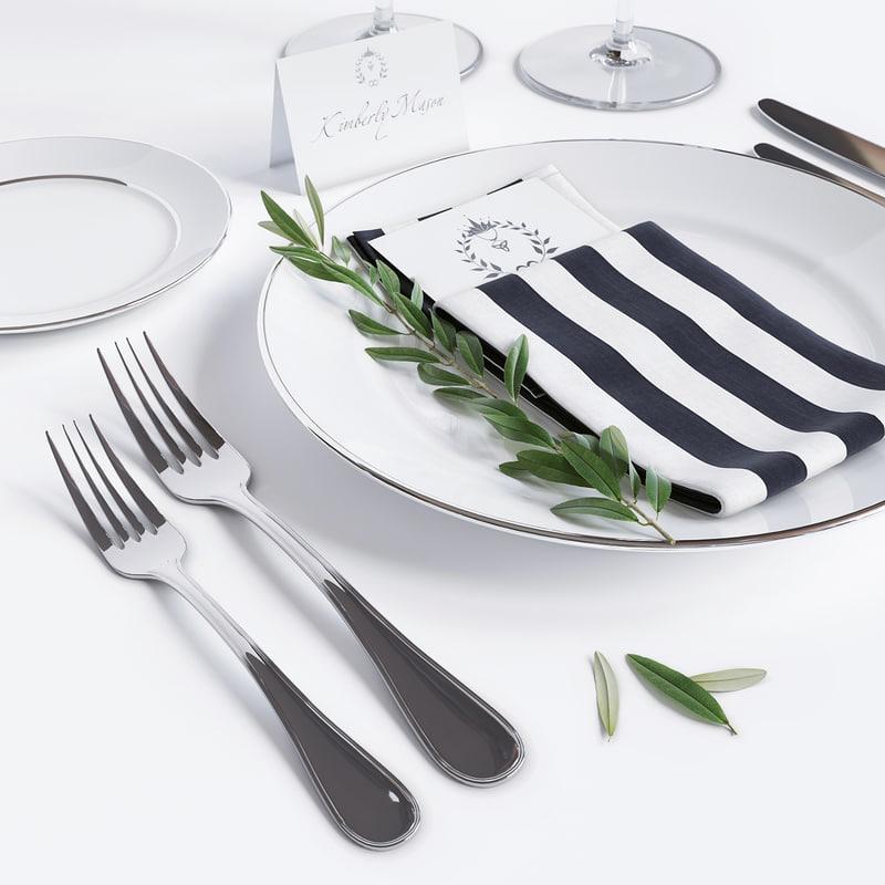dishes restaurants 3d model