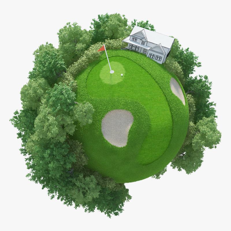 3d planet golf