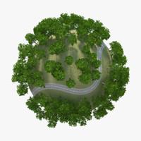 3d model planet rail road