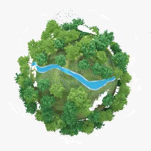 planet river 3d max