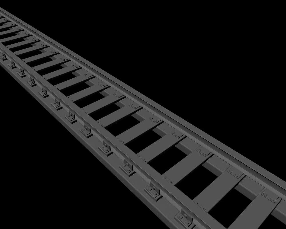 3d model subway track
