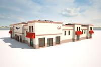 3d model cargo building